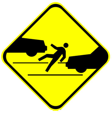 Pedestrian Accident Sign